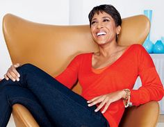 Robin Roberts can relax this much and more because she knows God has her back. With her faith friends and family added she is gonna do great.