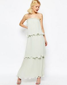 ASOS Maxi Dress With Tiered Pleats love dis