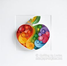 quilling , quilling paper, apple art, art, apple, paper cupcake, paper apple, have a nice day, good mood , tea, cup of tea, quilling gift, paper art, art, tea art, paper coffee art, etsy, larissa zasadna, design, quilling art, quilling paper art