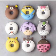 Cute donuts Donuts Cute desserts Cute baking Food Yummy food 15 which one Disney Desserts, Baking Desserts, Delicious Donuts, Yummy Food, Bolo Tumblr, Comida Disney, Cute Donuts, Donuts Donuts, Donut Store