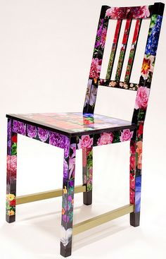 #Ikeahack: Stuhl mit Blumenprint