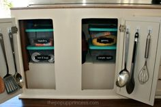 Pop Up Camper Remodel: Door for the Dinette Storage