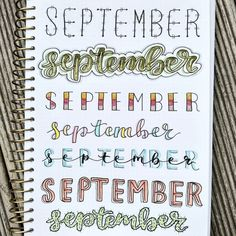 Best Bullet Journal Fonts and Headers for Every Month - The Smart Wander Bullet Journal Titles, Bullet Journal Lettering Ideas, Bullet Journal Banner, Journal Fonts, Bullet Journal Notebook, Bullet Journal Aesthetic, Bullet Journal Inspiration, Book Journal, Journals