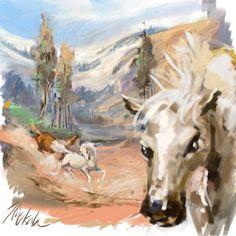 Koně - Corel painter