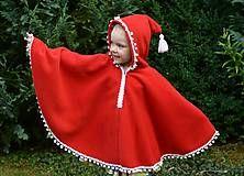 Detské oblečenie - Pončo - Bambuľková Karkulka  - 5714107_