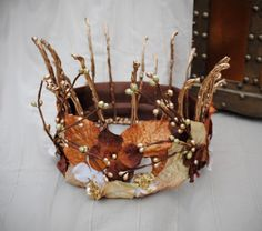 SALE Woodland Bridal Crown  Fairy Head piece by Frecklesfairychest, $48.00