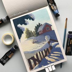 Source by evelinadraws Colorful Drawings, Art Drawings, Art Sketches, Gouache Painting, Painting & Drawing, Winter Girl, Art Sketchbook, Photography Sketchbook, Cute Backgrounds