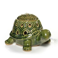 Everyday Ceramic Green Box Turtle w/LED Electric Wax Melts Warmer - Lights Up
