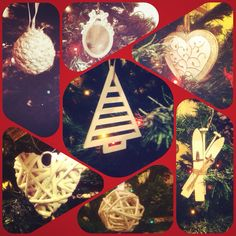 My #shabby chic Christmas tree . Made with Love