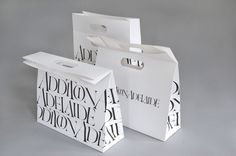 Typographic retail bag design with printing in gussets rnrnSource by Clothing Packaging, Fashion Packaging, Luxury Packaging, Bag Packaging, Print Packaging, Retail Packaging, Vacuum Packaging, Design Packaging, Luxury Branding