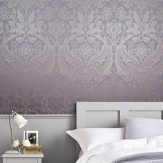 Desire Lavender Wallpaper, , large