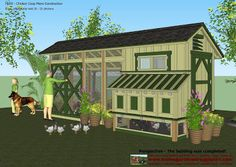 home garden plans: M200 - Chicken Coop Plans Construction - Chicken Coop Design - How To Build A Chicken Coop