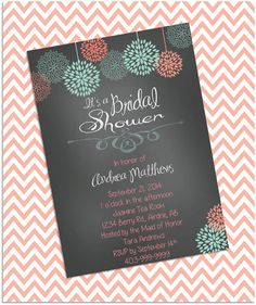 Bridal Shower Invitation Wedding Shower by PoppinPaperParties, $8.00