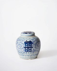 Blue & White Double Happiness Ginger Jar | Bowerbird Home