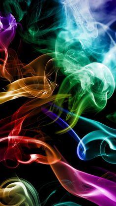 Дым красочный, абстракцию творческая iPhone 5 (5S) (5C) обои - 640x1136