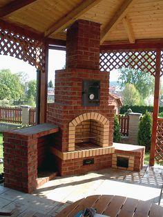 Outdoor Grill Area, Outdoor Spaces, Outdoor Living, Outdoor Decor, Backyard Kitchen, Backyard Patio, Backyard Treehouse, Diy Outdoor Fireplace, Pergola