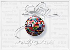 Worldly Flags Of Wishes - Discount Greeting Cards