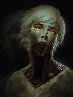 "artissimo: "" augmentia by sterling tuttle Exotique 2 "" Cyberpunk 2077, Cyberpunk Kunst, Character Concept, Character Art, Concept Art, Character Design, Arte Sci Fi, Sci Fi Art, Vampires"