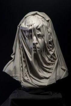 "wonderwarhol:  "" Child Bride, 2014, by Philippe Faraut  "" This sculpture was created to bring social awareness to the plight of the 15 million girls who are married each year before the age of 18. This young girl's expression of fear is barely hidden..."