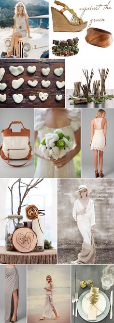Latest fashion trend toward natural elements and inspiration including wood