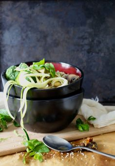 vegan noodle ramen soup