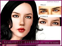 *male-female teen/ y.a/adult/elder Found in TSR Category 'Sims 3 Facial Hair' Electronic Art, Sims 3, Facial Hair, Genetics, Eyebrows, How To Become, Cosmetics, Cas, Content