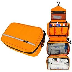 Travelmall Cosmetic Pouch Toiletry Bags Travel Business Handbag Waterproof Compact Hanging Personal Care Hygiene Purse Christmas Gifts orange -- More info could be found at the image url. Travel Toiletries, Travel Cosmetic Bags, Cosmetic Pouch, Travel Bags, Travel Toiletry Bag, Travel Ideas, Toiletry Storage, Bag Storage, Storage Ideas