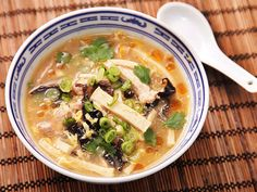 Really good hot and sour soup recipe to try.  Just need to find Chinkiang Vinegar