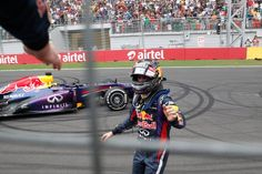 Sebastian Vettel wins the Indian Grand Prix to clinch his 4th. world title @ the 2013 Formula 1 AIRTEL Indian Grand Prix