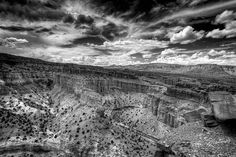 Goose Necks BW  Follow my INSTAGRAM! Thanks! I Know that, the BW isn't my usual style but some of these desert views close to Capitol Reef National Park and some skies are perfect to test my skills, this is the first of a BW serie I will post in the next days. Let me know what you think about this little change of mind.  For more photos follow me on instagram @riccardo_mantero