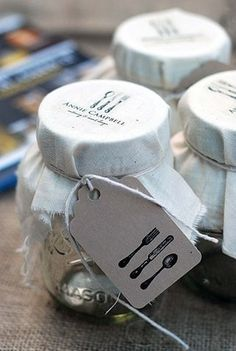 stamp on cloth to put on jars-great idea