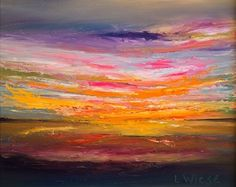 "Pink Sunset by Lindy Wiese Oil ~ 24"" x 30"""