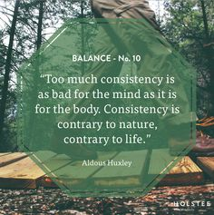 Can #balance be something we constantly seek? Does too much consistency lead to imbalances? #MindfulMatter