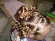 Girl Hairdos & Ideas: fish tail/messy buns
