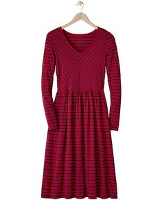 A dress lover's dream in luxe jersey. Has an über-feminine fit through the bodice and easy gathered skirt. So comfortable. So flattering. So easy. Simply pull it on and smile.
