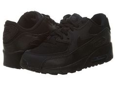 a883dec2d485 Nike Air Max 90 Ps Little Kids 307794-091 Black Running Shoes Youth Size 2.5