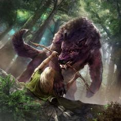 Creature 3d, Myths & Monsters, Necromancer, Medieval Fantasy, Fantasy Creatures, Werewolf, Dungeons And Dragons, Fantasy Art, Beast