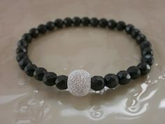 Everyday Bling.Diamond Faceted Hematite with by MECODesignsJewelry
