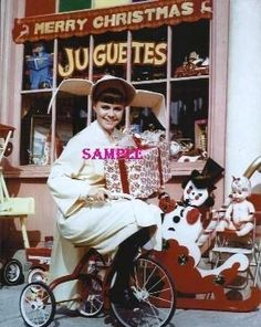 Sally Fields On Bicycle Smiling
