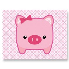 Piggy Oink Post Card from Zazzle.com