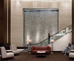 The Methodist Hospital Outpatient Center's elegant lobby and reception area