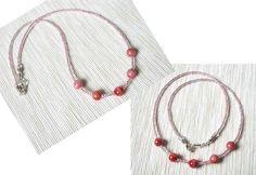 Google+ Fashion Necklace, Seed Beads, Boho Chic, Jade, Chokers, Minimalist, Necklaces, Google, Pink