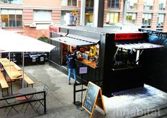 The High Line's wine bar in a shipping container is now open for the summer season!