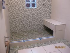 natural stone shower base