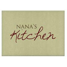 """""""Nana's Kitchen"""" Glass Cutting Board"""