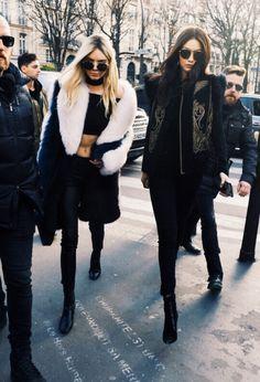 in-her-wildest-dreams: Gigi Hadid & Kendall Jenner // Balmain Paris