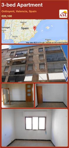 3-bed Apartment in Ontinyent, Valencia, Spain ►€20,100 #PropertyForSaleInSpain