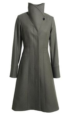 "Reiss ""Angel"" Fit and Flare Coat ($364) Versatile: The Angel coat can be worn with the funnel neck up, as Kate chose to do today, or down for a traditional single-breasted appearance"