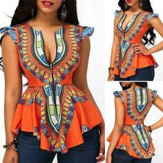 Modern African Fashion Dashiki African Peplum Top - Tap the link to check out some products that you've probably never seen before! Feel free to take advantage of the FREE ITEMS as well ; African Fashion Designers, African Inspired Fashion, African Print Fashion, Africa Fashion, Fashion Prints, African American Fashion, African Print Dresses, African Fashion Dresses, African Dress