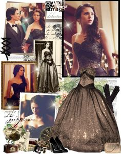 "The Vampire Diaries Elena's ball gown. Simply stunning! My favorite moment/dress out of all the vampire diaries episodes. ""Elena Gilbert, ball outfit"" by mery90"